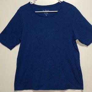Women's Blue Crew neck T-Shirt